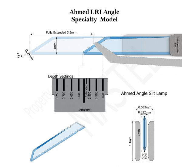 Specialty Models | Diamond Ophthalmic Blades | Ahmed LRI Angle Slit Lamp