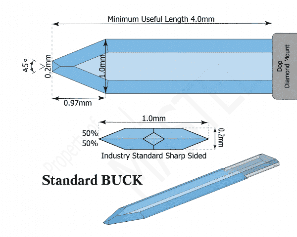 Paracentesis | Diamond Opthalmic Blade | Standard BUCK