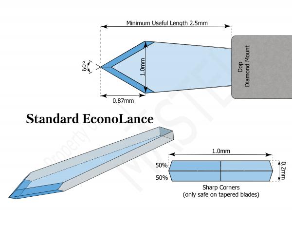Paracentesis | Diamond Opthalmic Blade | Standard EconoLance