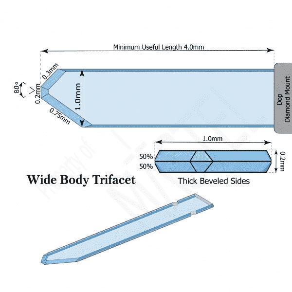 Phaco Keratomes | Diamond Opthalmic | Wide Body Trifacet